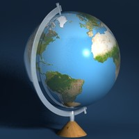 3d table globe model