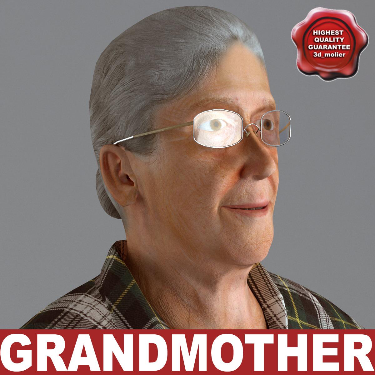 3d max grandmother v5 t-pose