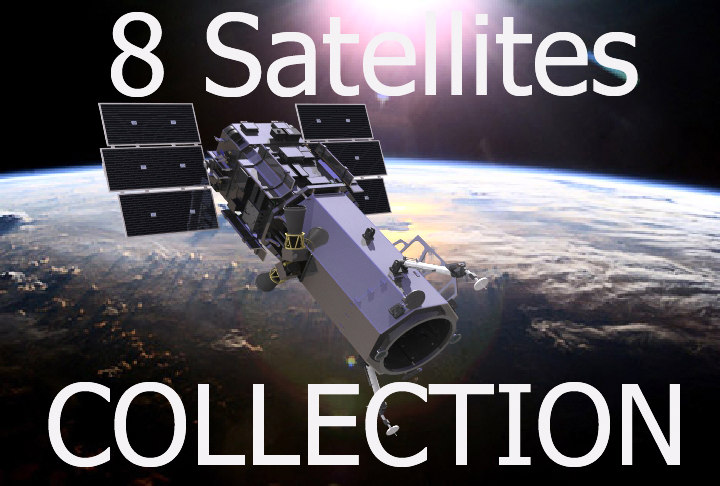 telecommunication satellites 3d model