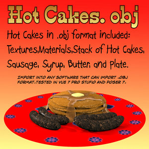 hot cakes 3d model