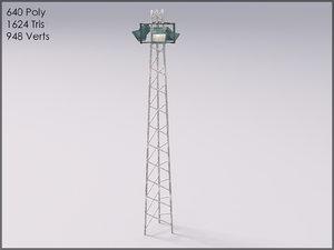 3d light tower model