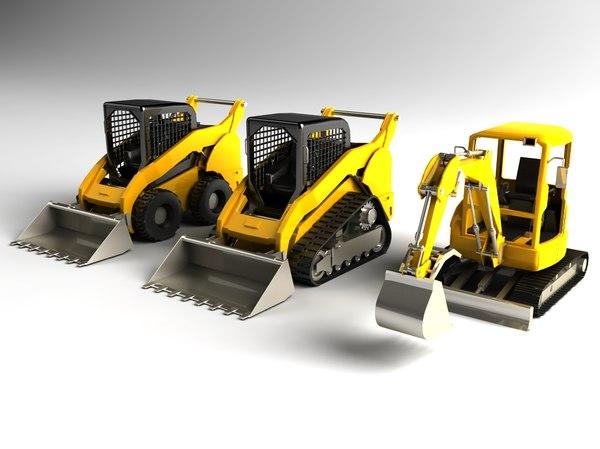 obj mini excavator loader