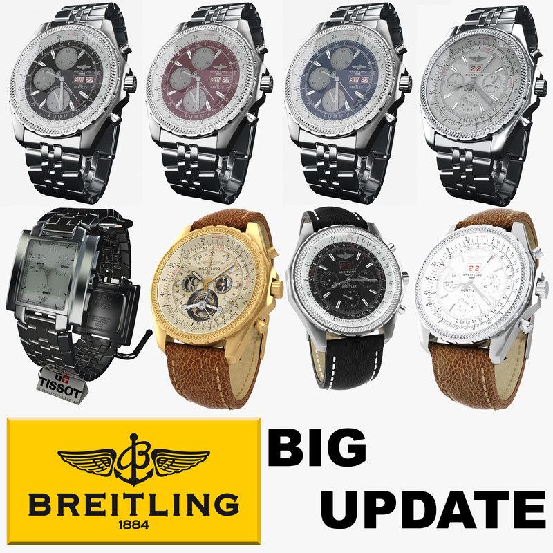 clock breitling 3d model