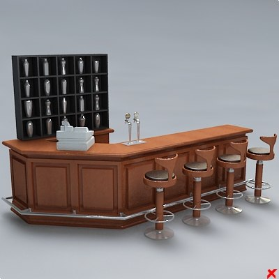 3d bar counter