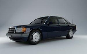 mercedes-benz interior engine 3d model