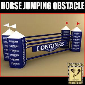 lightwave horse jumping obstacle
