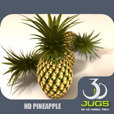 pineapple fruits 3d model