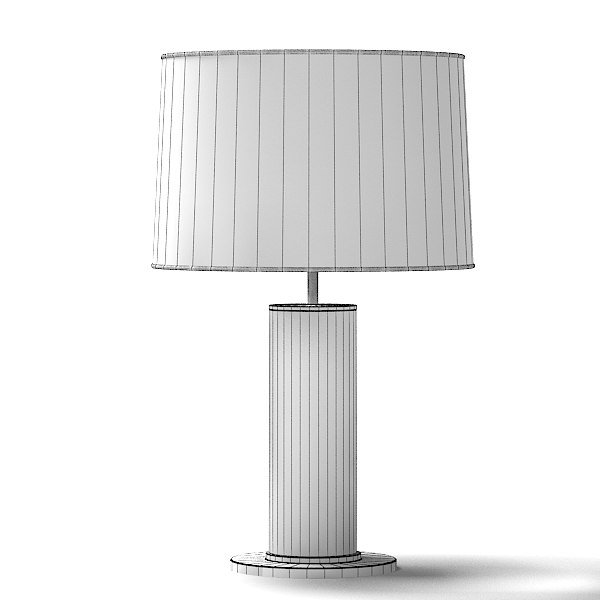 RALPH LAUREN ROUND LEATHER WRAPED RL14042PN MODERN CONTEMPORARY TABLE LAMP