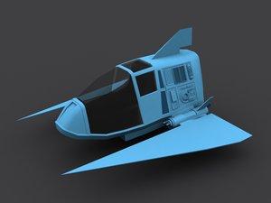 free original fighter spacecraft 3d model