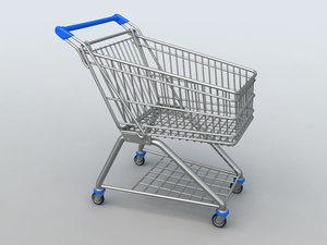3d shopping trolley