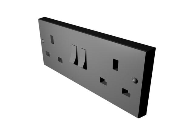 3d model plug socket