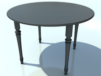 Table Small Round No Mat 3 - 3D Small Wooden Table model - Made in 3ds max2010