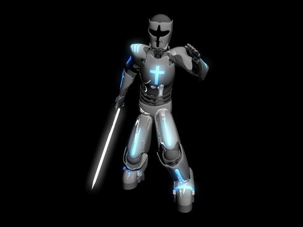 3d knights templar robot