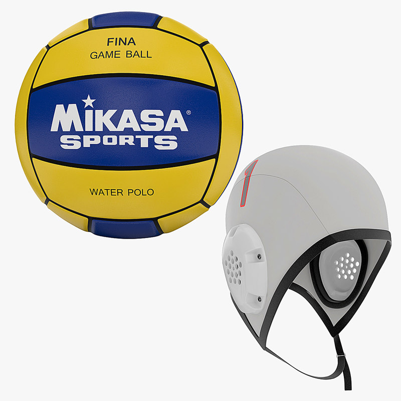water polo ball cap obj