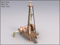 Water Pump, Animated, Textured