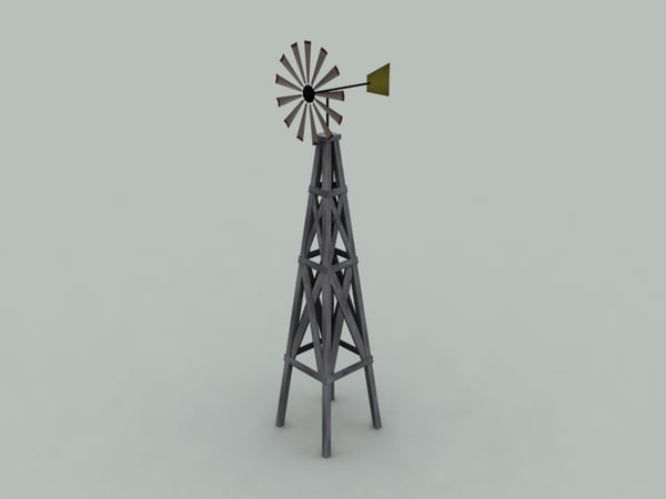 farm windmill 3d model
