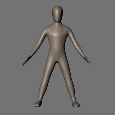 maya simple body characters
