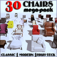 chairs classic modern 3d model