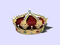 heráldica corona real c4d