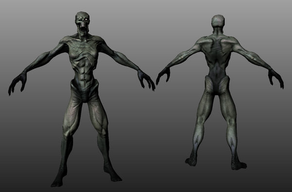 3d model ghoul character