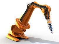 robot industrial c4d