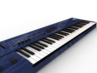 synthesizer synthe 3d model