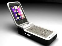 mobile handset 3d model