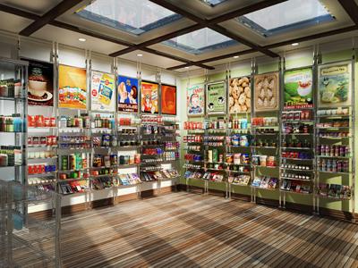 3d model grocery convenient store merchandise