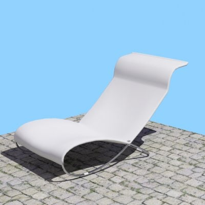 3d resting chair model