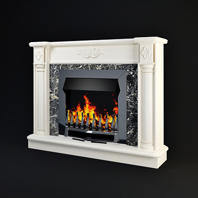 3ds fireplace classic