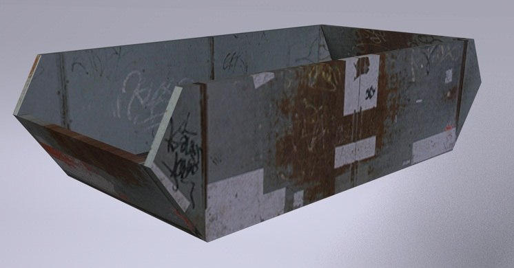 dumpster container obj