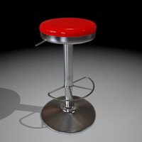 A bar stool with a flat sit