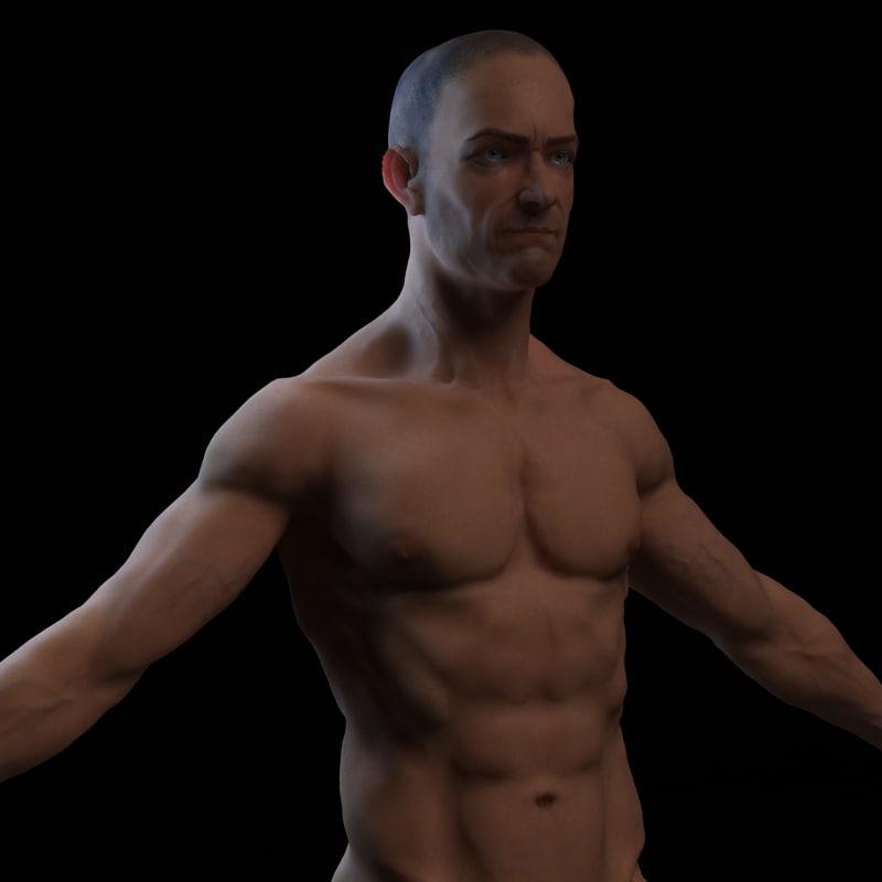 male man 3d model