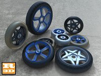 3d 8 wheels collections model