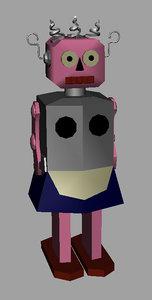 free roxy robot bot 3d model