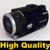 sony handycam hdr-xr550ve video camera 3d model
