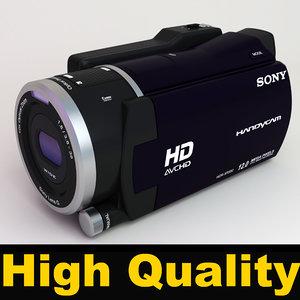 sony handycam hdr-xr550ve video camera 3d model