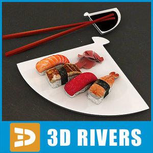 sushi set 3d model