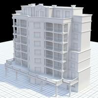 modern tenement house obj