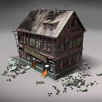 ruin building 3d model