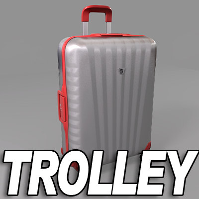 trolley suitcase 3d lwo