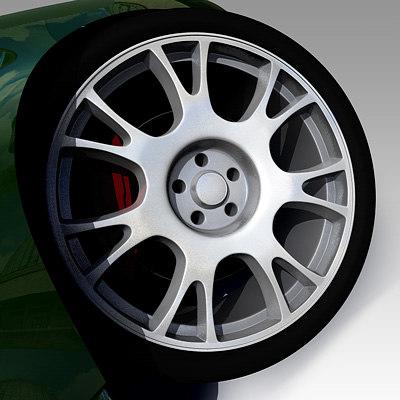 wheel import car 3d model