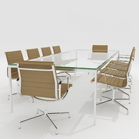 meeting conference room furniture 3d model