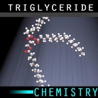 3d model molecule triglyceride