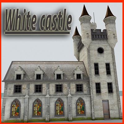 white castle 3d max