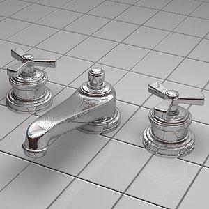3d model lavatory faucet