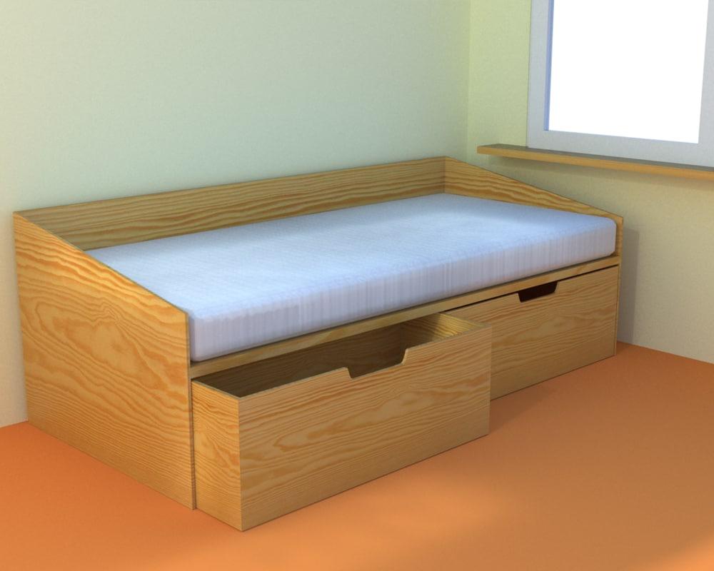 children bed 3d model