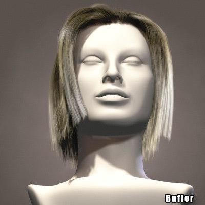 hair character head 3d model