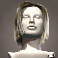 hair character head 3d model