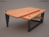 bamboo coffee table 3d model